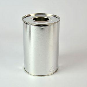 Cilíndrico Metálico 1 litro diámetro 100 mm tapón de plástico