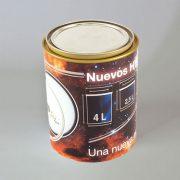 Cilíndrico HYBRID (plástico + metal) 01 Litro decoración IML