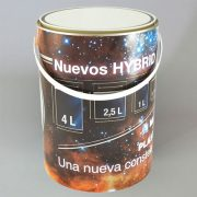 Cilíndrico HYBRID (plástico + metal) 04 Litros decoración IML